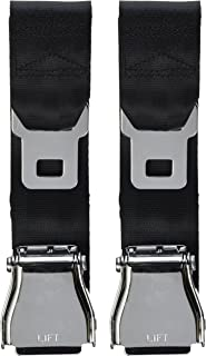 E4 SAFETY CERTIFIED Airplane Seatbelt Extensions (2-pack) - FITS ALL AIRLINES (except Southwest) - FREE VELOUR POUCH
