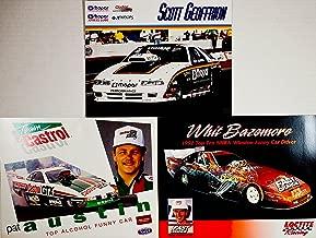 1993 / 1994 - NHRA / Winston Drag Racing - 3 Hero Cards - Whit Bazemore : Funny Car Dodge Daytona / Scott Geoffrion : Dodge / MOPAR / Pat Austin : Funny Car - Castrol GTX - Out of Print - Collectible
