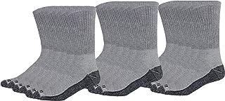 Dickies Men's Dri-Tech Comfort Crew Socks, Grey, 18 Pair