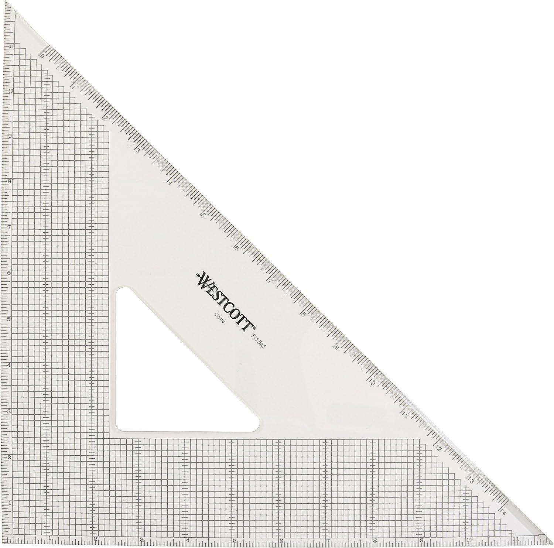 Westcott Grid Grid Grid Triangle, 30,5 cm 45 90 Grad, transparent (t-15 m) B00A6WHGMC | Fierce Kaufen  b7535f