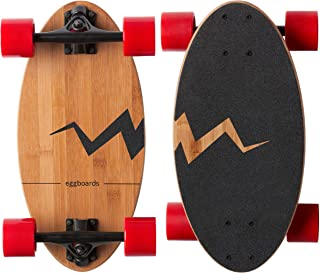 Eggboards Mini Longboard Cruiser Skateboards - Small Board for Adults and Kids with Wide Skateboard Deck 19 Inch in Bamboo...