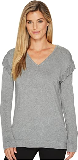 Calvin Klein - V-Neck with Ruffle Sleeve