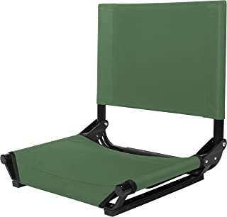 Cascade Mountain Tech Portable Folding Steel Stadium Seats for Bleachers or Benches