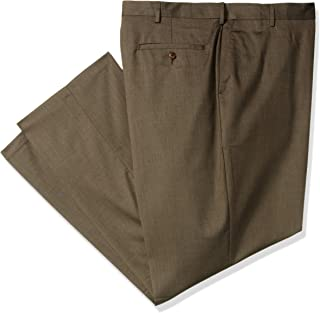 Haggar Men's Big and Tall Premium Stretch Solid Gabardine Expandable Waist Plain Front Dress Pant