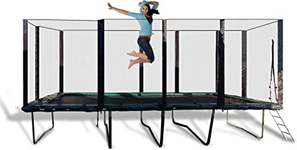 Best Trampoline USA - Galactic Xtreme Gymnastic Rectangle Trampoline with Safety Net Enclosure Heavy Duty Commercial Grade - 550 lbs Jumping Capacity Frame & Springs, 10 X 20 Ft