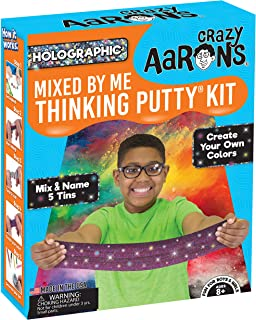 Crazy Aaron's Thinking Putty - Holographic Mixed by Me Thinking Putty Kit - Create Your Own Colors, Mix and Name 5 Tins - Never Dries Out