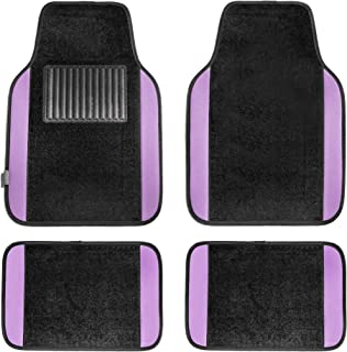 FH Group F14407PURPLE Premium Full Set Carpet Floor Mat (Sedan and SUV with Driver Heel Pad Purple)