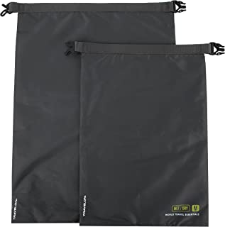 Travelon World Travel Essentials Set of 2 Dry Bags, Graphite, One Size