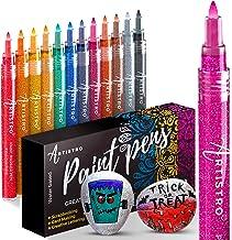 ARTISTRO Glitter Paint Pens do malarstwa skałowego, pamiętników, albumów fotograficznych, kart, projektów papierowych, bar...