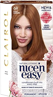 Clairol Nice'n Easy Permanent Hair Color, 6R Light Auburn, 1 Count
