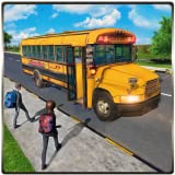 Transport Kids In Mega City Euro Coach Driver Adventure 3D: High School Bus Driving Simulator Game Free For Kids 2018