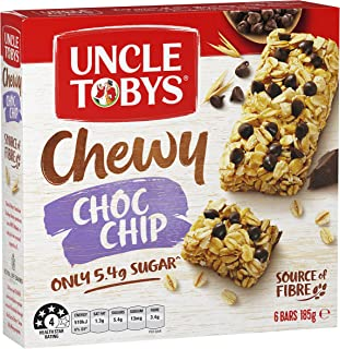 Uncle Toby's Chewy Chocolate Chip Muesli Bar, 185g