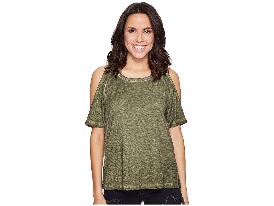 Sanctuary Lou Bare Shoulder Tee (Cadet) Women's T Shirt