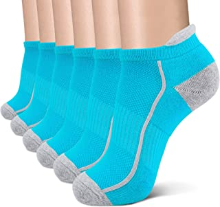 Low Cut Cushion Running Socks For Women Performance Ankle Athletic Sports Cushioned Tab Sock 6 Pack