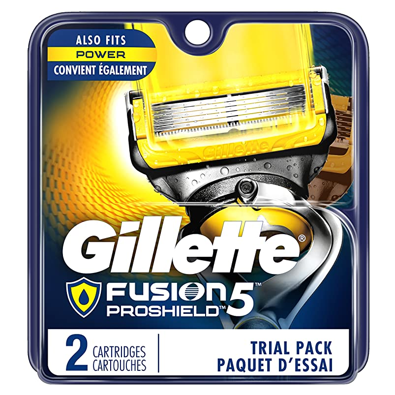 Gillette Fusion5 ProShield Men's Razor Blades, 2 Blade Refills (Packaging May Vary) yhjtujaq980476
