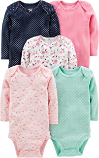 Simple Joys by Carter's Mixte Bébé Body Manches Longues En Coton, Lot de 5