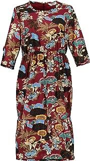 Studio Untold Women's Plus Size Colorful Tiered Skirt Dress 720024