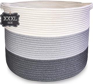 XXXL Blanket Basket Large Basket – Cotton Rope Basket Woven Basket for Blankets..