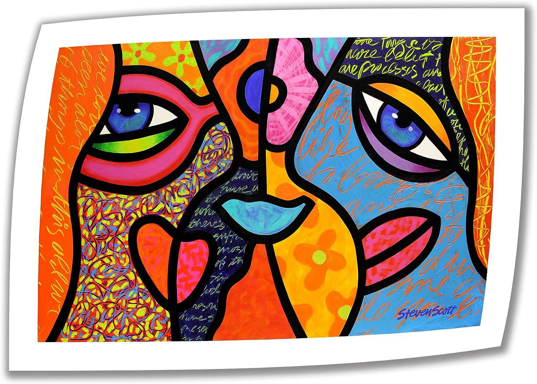 Art Wall Eye to Eye Unwrapped Canvas Art by Steven Scott, 20 by 28-Inch