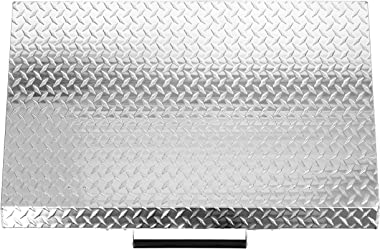 """HECASA Silver Outdoor 36"""" Griddle Grill Hard Cover Lid Waterproof Aluminum Compatible with Blackstone & More"""