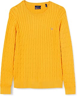 GANT Stretch Cotton Cable C-Neck Suter Pulver para Mujer