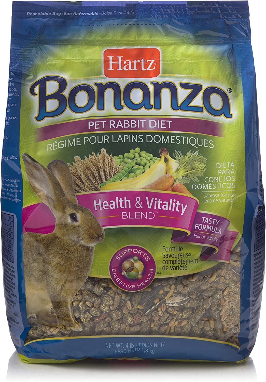 Hartz Bonanza Health & Vitality Blend Pet Rabbit Food  4Lb