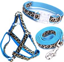 Mile High Life Dog Collar, Harness and Leash   Leopard Design   Perfect Accessory for Walking Your Dog