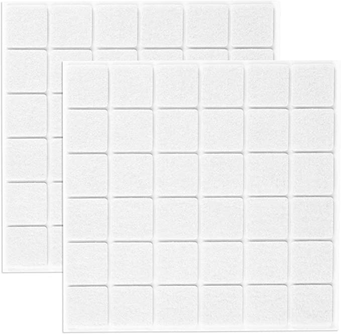 76 opinioni per Filzada® 72x Feltrini autoadesivi- 25 x 25 mm Quadrato- Bianco- Feltro per
