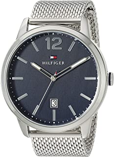 Tommy Hilfiger Men's Quartz Watch with Stainless Steel Strap, Silver, 22 (Model: 1791500