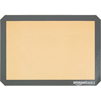 AmazonBasics Silicone, Non-Stick, Food Safe Baking Mat - Pack of 4