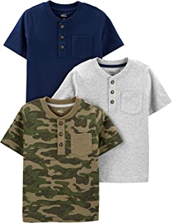 Boys' 3-Pack Short-Sleeve Pocket Henley Tee Shirt
