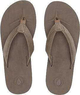 Volcom Mens V0811884 Men's Fathom Synthetic Leather Flip Flop Sandal