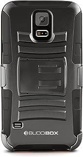 BUDDIBOX Kickstand Phone Case with Belt Clip Holster, Black