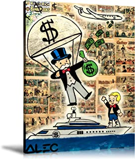 ALEC Monopoly HD Printed Oil Paintings Home Wall Decor Art On Canvas Money Parachute 24x32inch Unframed