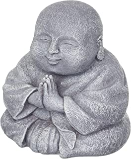 Statue in a Rich Bronze Color /& Detailing on All Sides Hotei Buddha Groove Majestic and Cheerful Happy Buddha Made of Polystone for Indoor Use 7.5 x 7.5 Inches