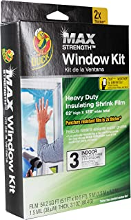 Duck MAX Strength Heavy Duty Insulating Film Window Kit, 3-Window, 62-Inch x 126-Inch, Indoor, 284351