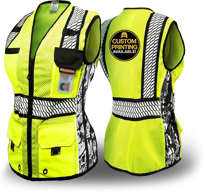 KwikSafety RoadBOSS Economy Premium Safety Women for Detroit Mall Ranking TOP8 Clas Vest