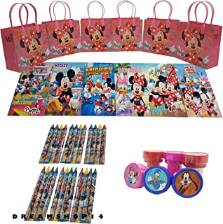 Minnie Mouse Goody Bag w/Coloring Book Party Favor Set Hot Flw (42Pcs) FV