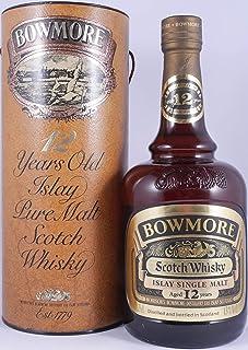Bowmore 12 Years Gold Label Brown Dumpy Bottle Islay Single Malt Scotch Whisky 43,0% Vol. - seltene alte 75cl Morrison´s Bowmore Abfüllung aus den frühen 80er Jahren!