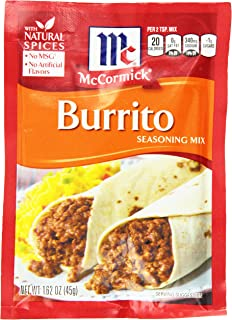 McCormick Burrito Seasoning Mix, 1.62 oz (Pack of 12)