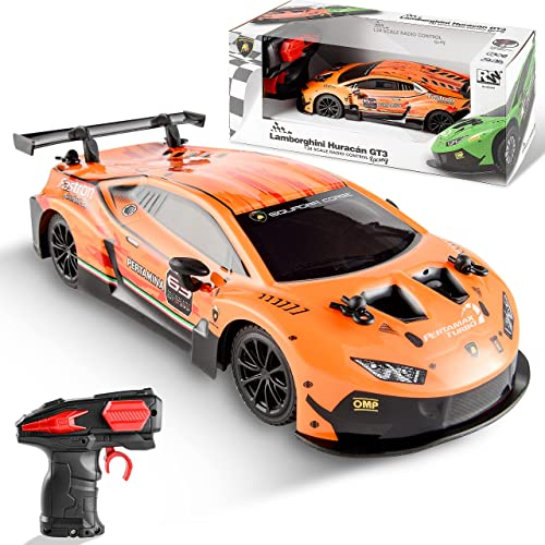 discount BEZGAR X JIAN FENG Yuan Licensed RC Series, 1:24 Scale Remote Control discount Car LAMBOR wholesale GT3 Electric Sport Racing Hobby Toy Car Model Vehicle for Boys and Girls Teens and Adults Gift outlet online sale