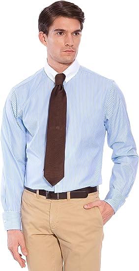 Hackett Camisa Rayas Blanco/Azul 41: Amazon.es: Ropa