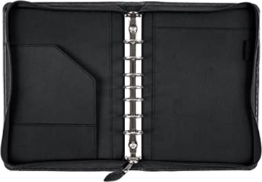 Day-Timer Desk Size Multi-Pocket Organizer, 5 1/2 x 8 1/2 Page Size, Black Cover (40671)