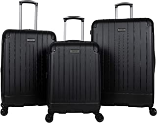 Kenneth Cole Reaction Flying Axis Collection Lightweight Hardside Expandable 8-Wheel Spinner Luggage, Black, 3-Piece Set (20