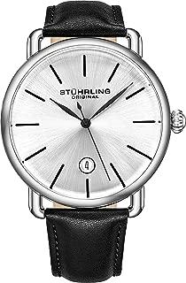 Ascot Mens Black Watch - Swiss Quartz Analog Date Wrist Watch for Men - Stainless Steel Mens Designer Watch