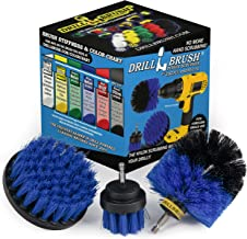Drill Brush Power Scrubber by Useful Products Drill Brush Boat Accessories – Kayak Cleaning Kit – Boat Drill Brush Set - M...