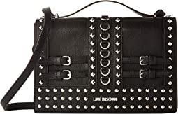 Shoulder Bag with Belt Studs