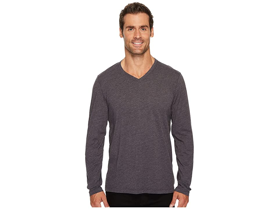 Agave Denim Feathering Long Sleeve Neps Jersey T-Shirt (Shale) Men's Long Sleeve Pullover