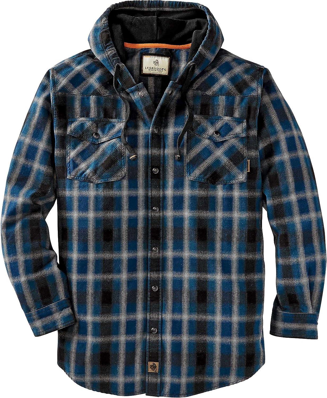 Legendary Whitetails Men's Backwoods Hooded Flannel Shirt