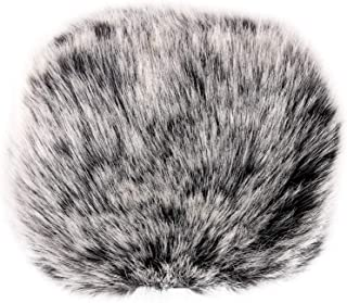 ChromLives Outdoor Furry Microphone Windscreen Muff fits Zoom H6 Mic Windscreen Wind Cover for Zoom H5 H6 and More, Black&white